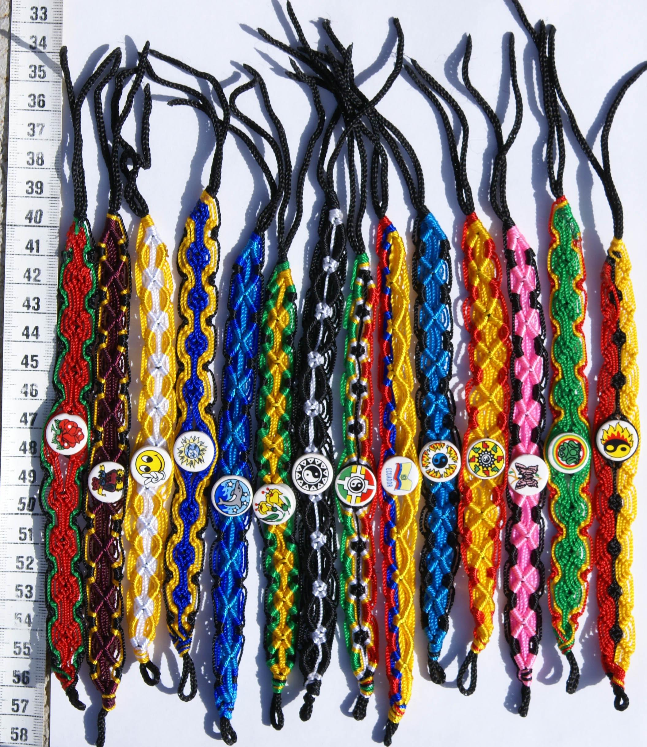 Схемы плетения браслетов макраме.