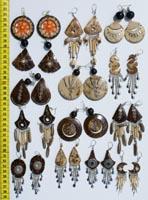 Сережки из кокоса