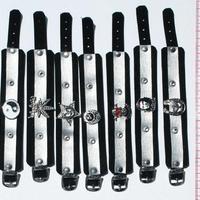 Черные кожаные браслеты