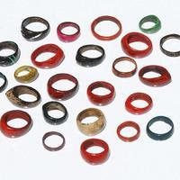Цветные кольца из кокоса