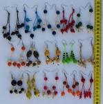 Сережки цветные