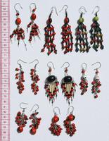 Сережки из красных семян