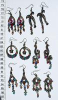 Металлические сережки с кристаллами