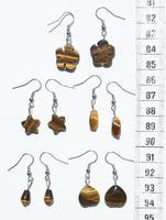 Сережки с коричневыми камнями